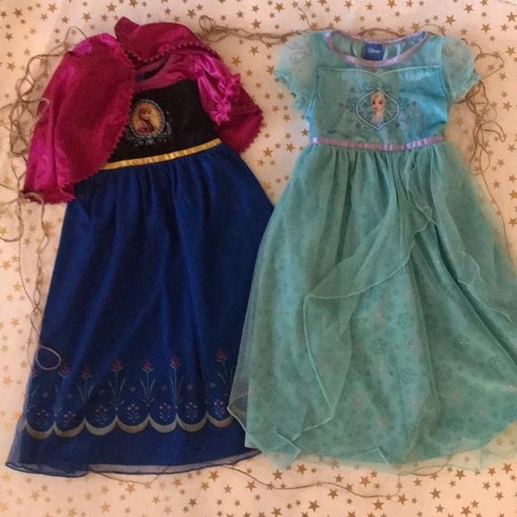 Frozen Pajamas   Anna Elsa Dress Up Nightgowns   Poshmark